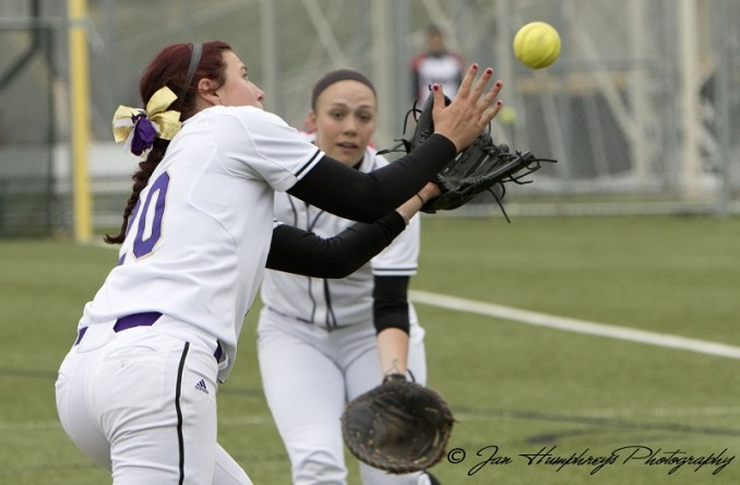 Tori Aziere makes the catch to end game 2. She finished with a win and a save on Tuesday