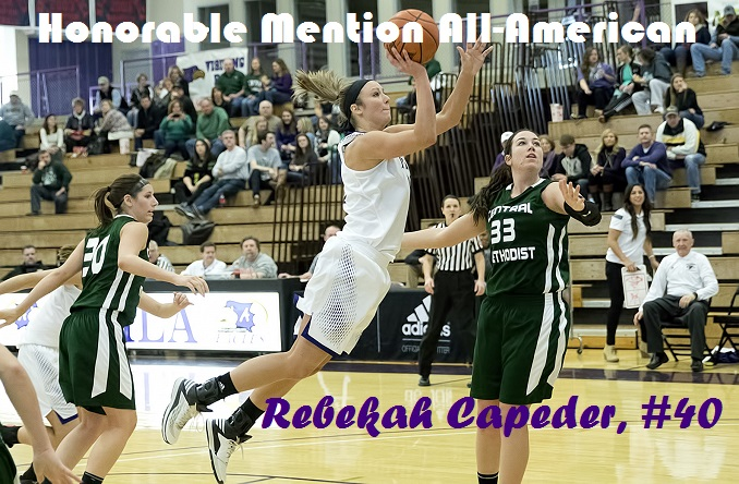 Rebekah Capeder led the HAAC in scoring and rebounding in 2014-15