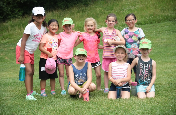 The junior golfers pose for a photo during a break. (Photo courtesy of Alexandra Inglish)