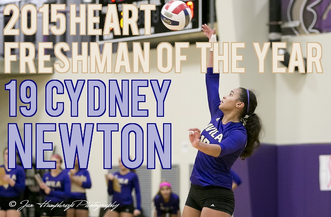 Cydney Newton is Avila's first ever Freshman of the Year as members of the Heart.