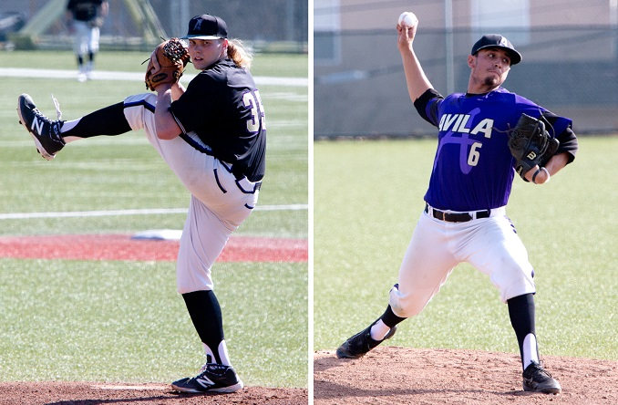 Gunnar Friend (left) and Saul Nunez (right) each tossed shutouts at The Z this weekend (Photo credit Jan Humphreys)