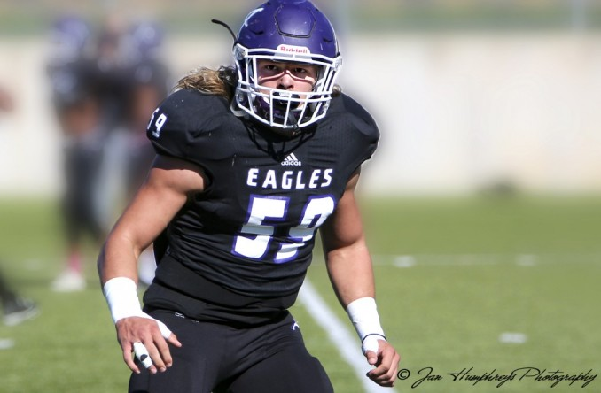 Wyatt Beebe became just the second Eagle to record 100 tackles in a single season on Saturday.