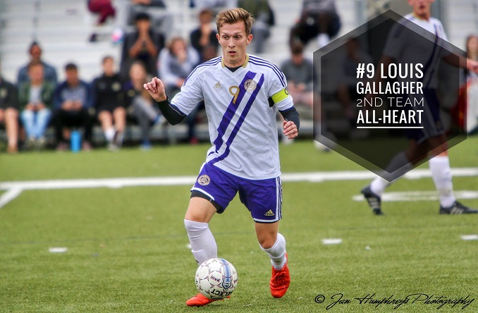Louis Gallagher earned 2nd Team All-Heart for the second time of his career in 2016.