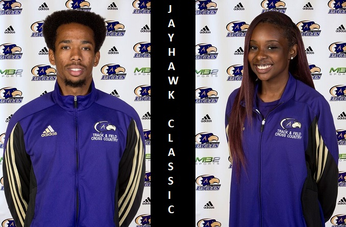 Emil Ozoria (Left) and Breonne Maltbia (Right) both broke school records on Friday in Lawrence, Kan.