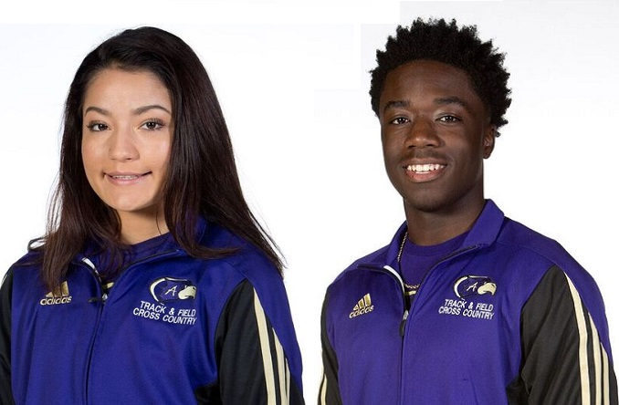 Karen Arellano (left) and Jeremi Barnes (right) highlighted a strong first weekend for the Eagles.