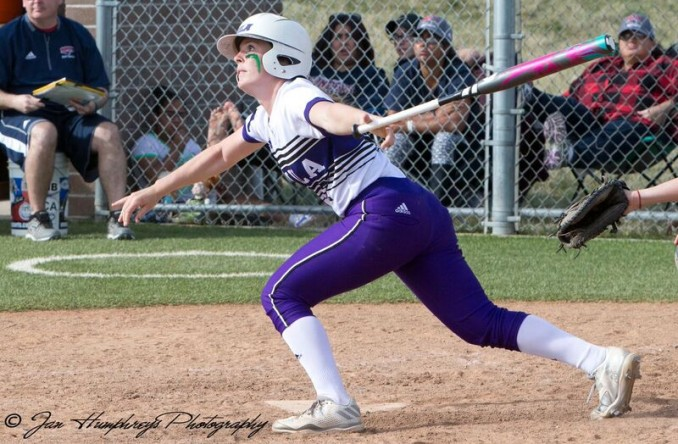 Kaycee Dexter led the Eagles with 4 RBI as they swept Missouri Valley in Marshall, Mo. on Saturday (Photo Credit: Jan Humphre