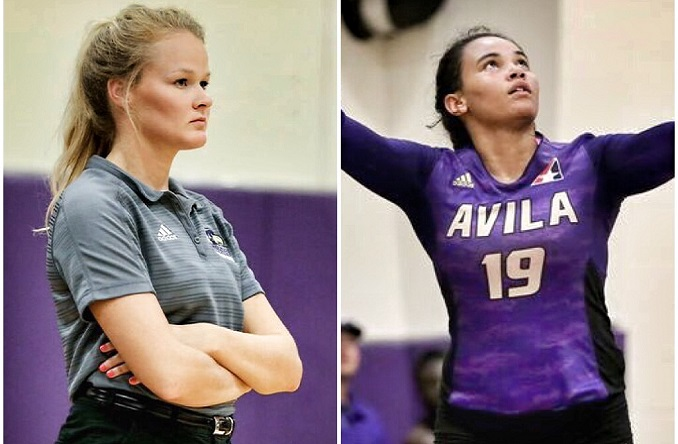Coach Bragaw (left) and Cydney Newton (right) each earned All-Heart Honors Tuesday.