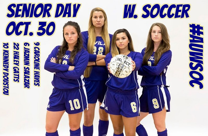 The senior day ceremony will take place between the men's and women's soccer game Sunday.