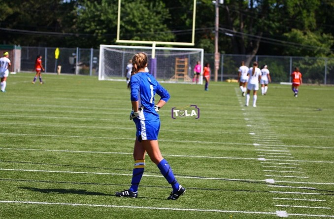 Stacey Schimmel made a career-high 16 saves Saturday against MVC. (Photo Credit: Talal Alaseeri)